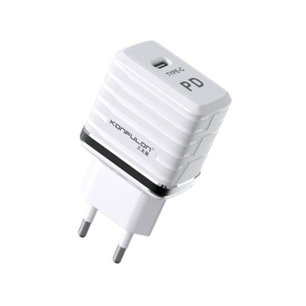 Konfulon C32D 20W PD Şarj Cihazı + DC13 Lightning Kablo