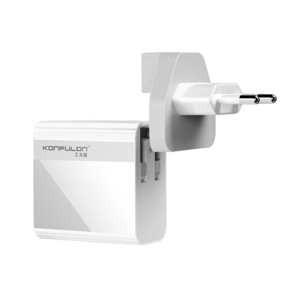 Konfulon C65Q Type-C USB 3.0 Quick PD 20W Dijital Seyahat Hızlı Şarj Cihazı - Beyaz