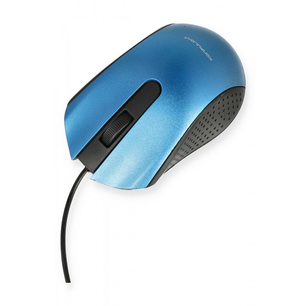 Konfulon B300 Kablolu Optik Mouse - Mavi