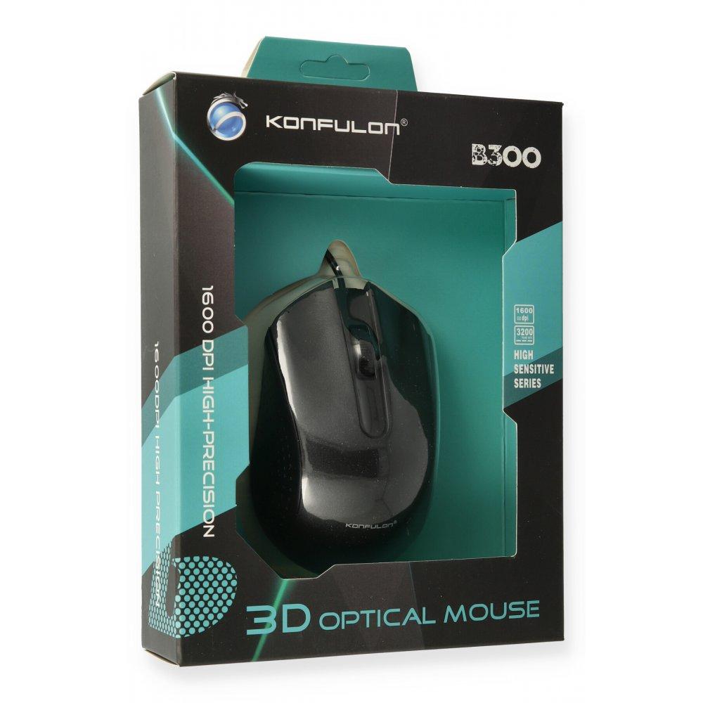 Konfulon B300 Kablolu Optik Mouse - Siyah