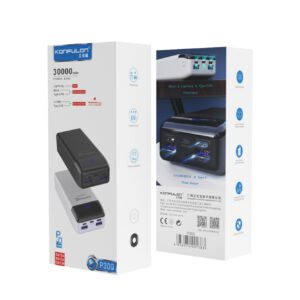 Konfulon P30Q Dijital Ekranlı Powerbank 30.000 mAh PD 18W Hızlı Şarj - Beyaz