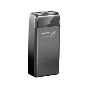 Konfulon P30Q Dijital Ekranlı Powerbank 30.000 mAh PD 18W Hızlı Şarj - Siyah