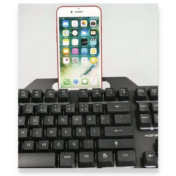 Konfulon W200 RGB Işıklı Türkçe Q Gaming Kablolu Klavye Mouse Set